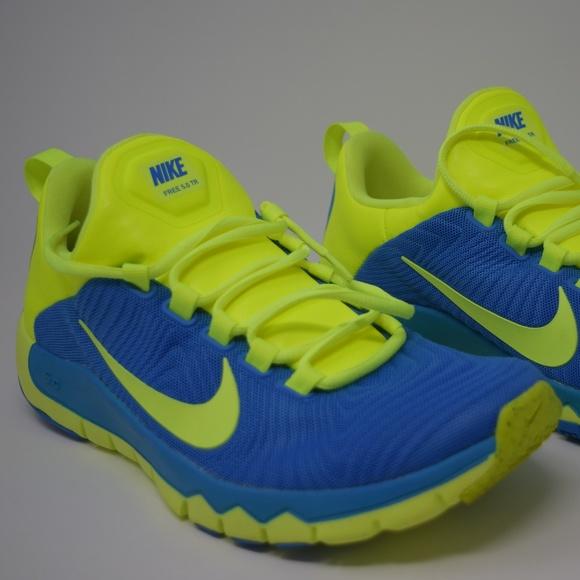 low priced 807ff e4870 NIKE Free Trainer 5.0 V5 Blue/Volt Mens 644671-470